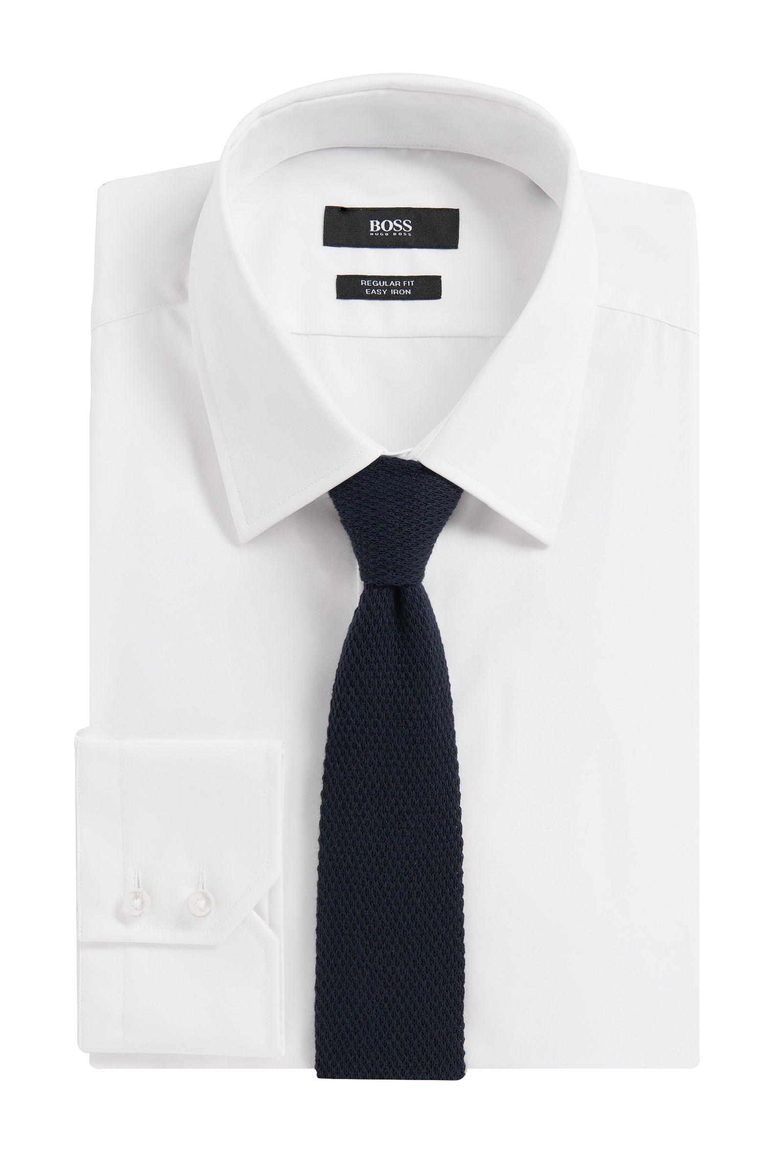 Cravate en coton: «Tie 5cm knitted»