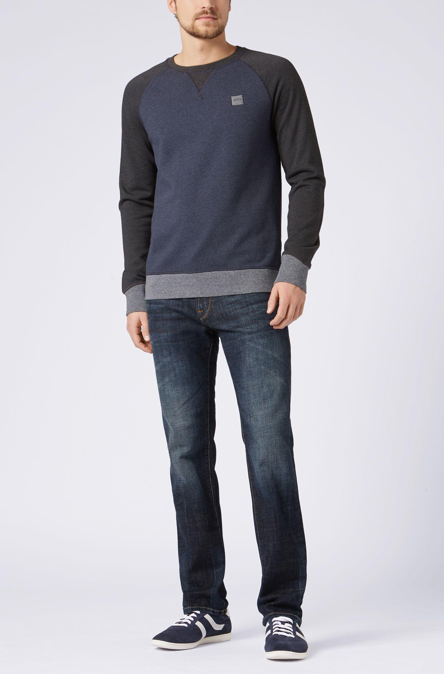 Regular-fit jeans van een katoenmix in used-look: 'Orange24 Barcelona'
