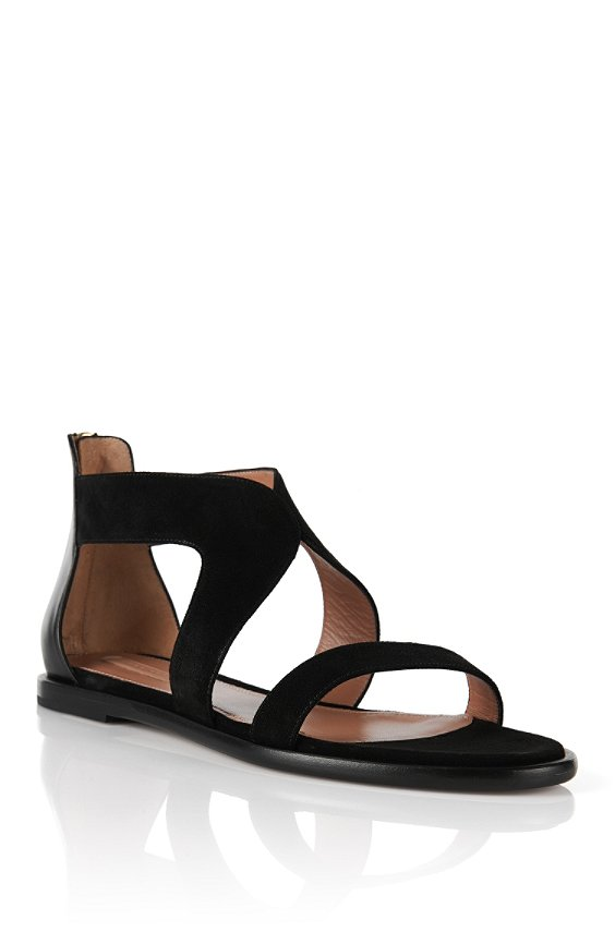 Sandals in suede and smooth leather: 'Backstage 05-S', Black