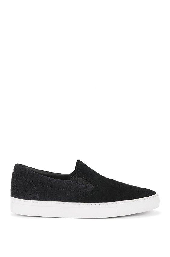 Loafer aus Leder: 'Caslip', Schwarz
