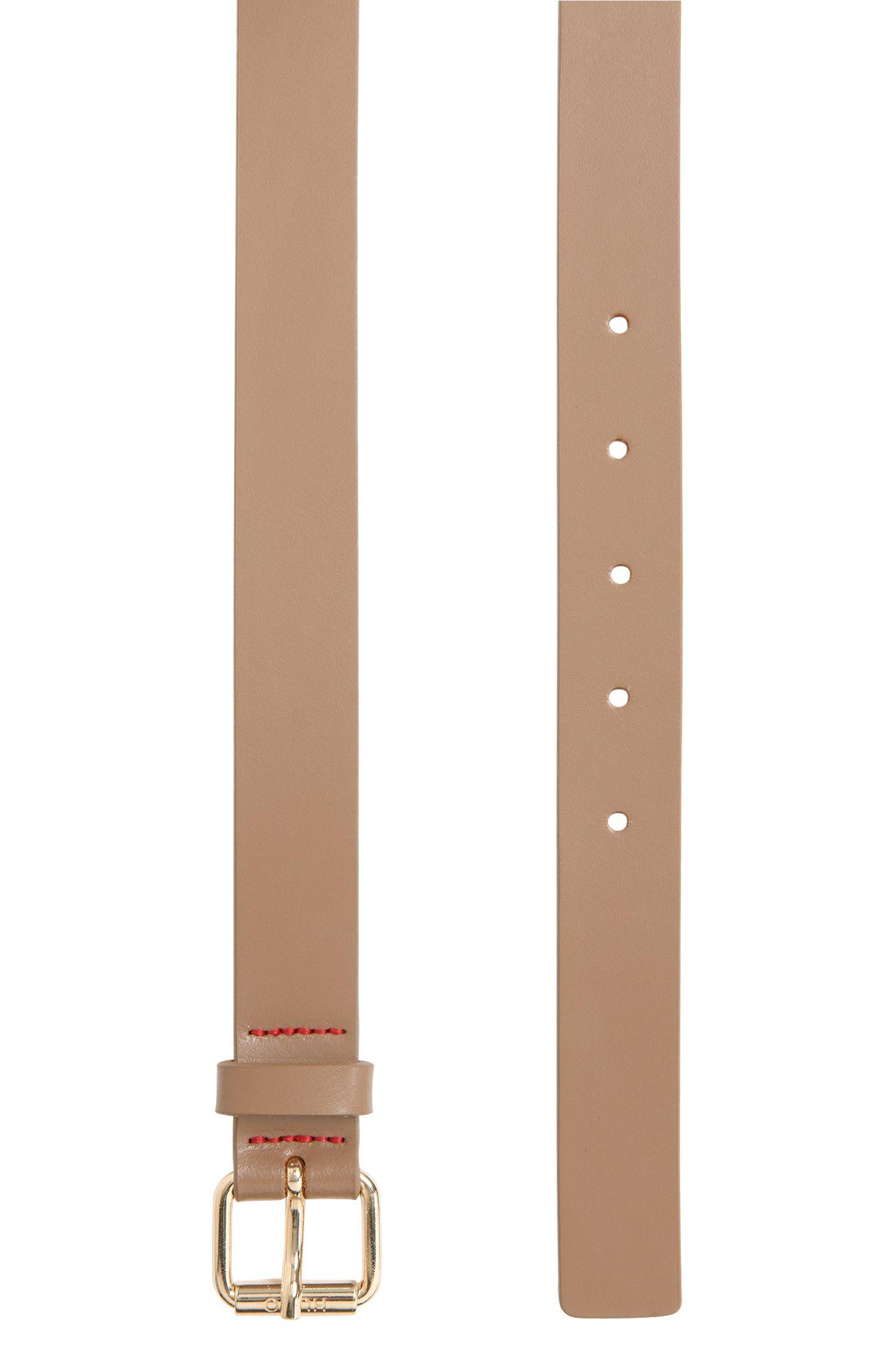 Schmaler Ledergürtel mit Dornschließe: 'Ley-D'