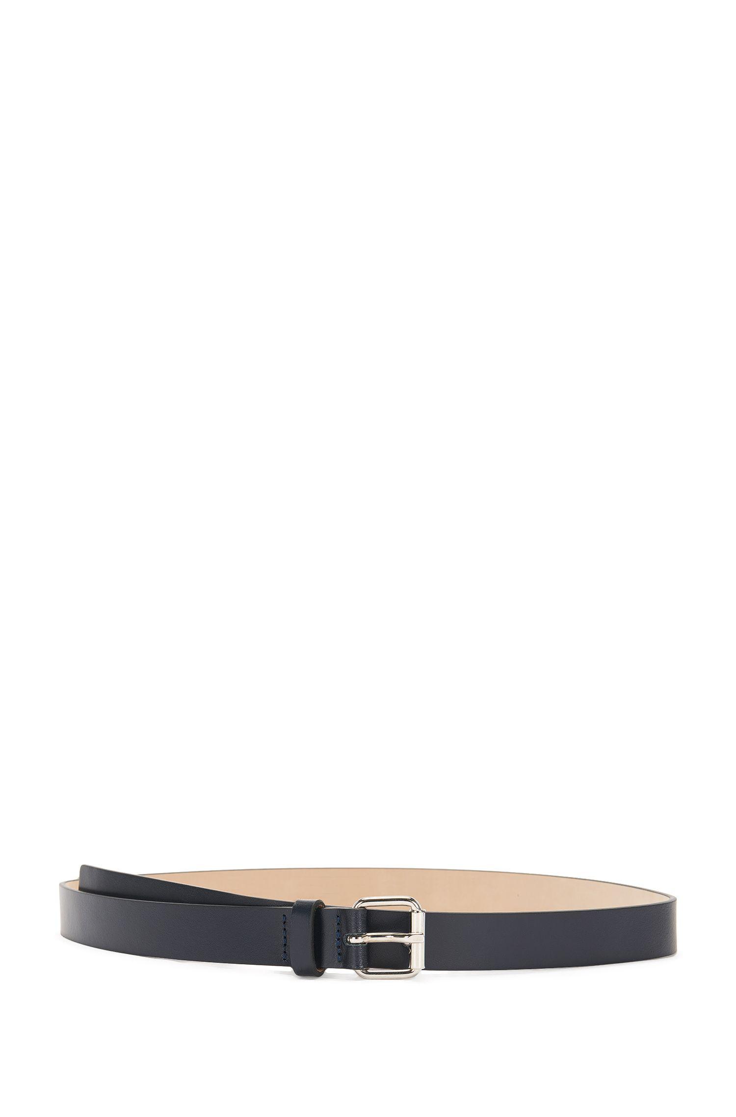 Cinturón estrecho de piel con hebilla: 'Ley-D'