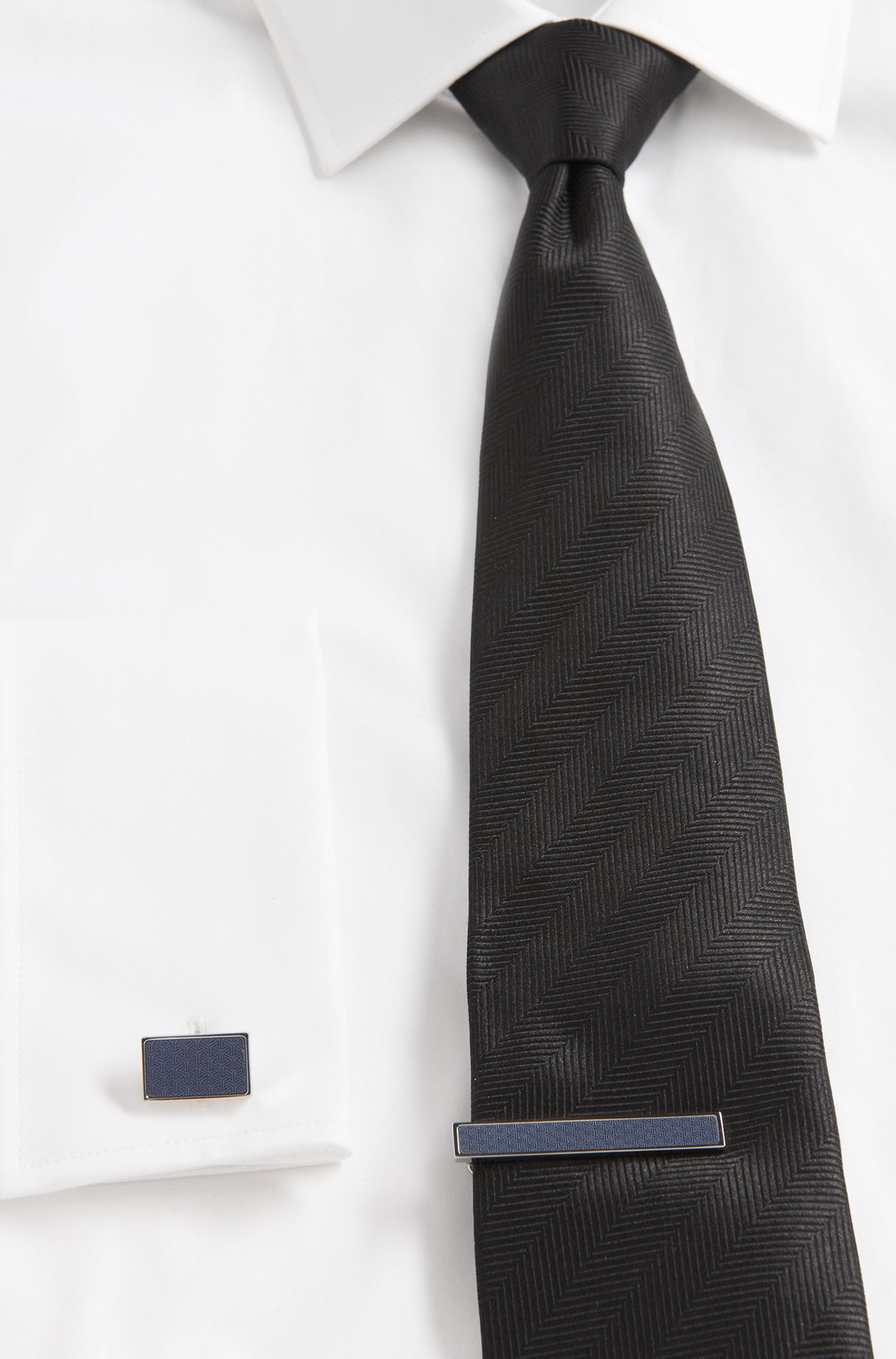 Pince à cravate en laiton et acier inox: «Tobi»