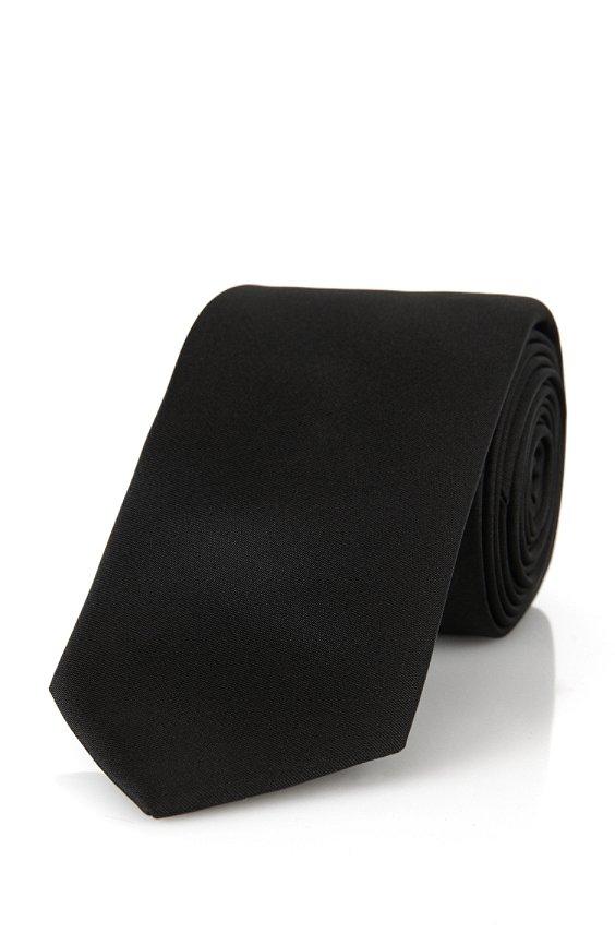 Krawatte aus Seide: 'Tie 6 cm', Schwarz