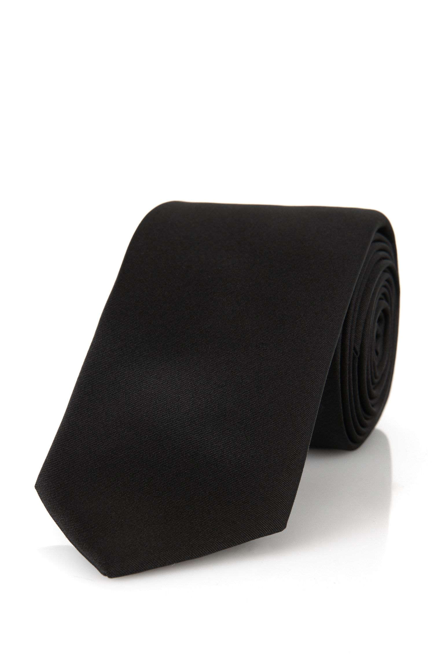 Unifarbene Krawatte aus Seide: 'Tie 6 cm'