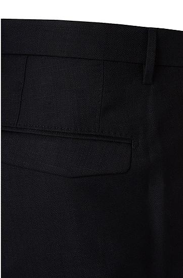 Fein strukturierte Slim-Fit Hose aus Baumwoll-Mix: 'T-Grovy', Dunkelblau