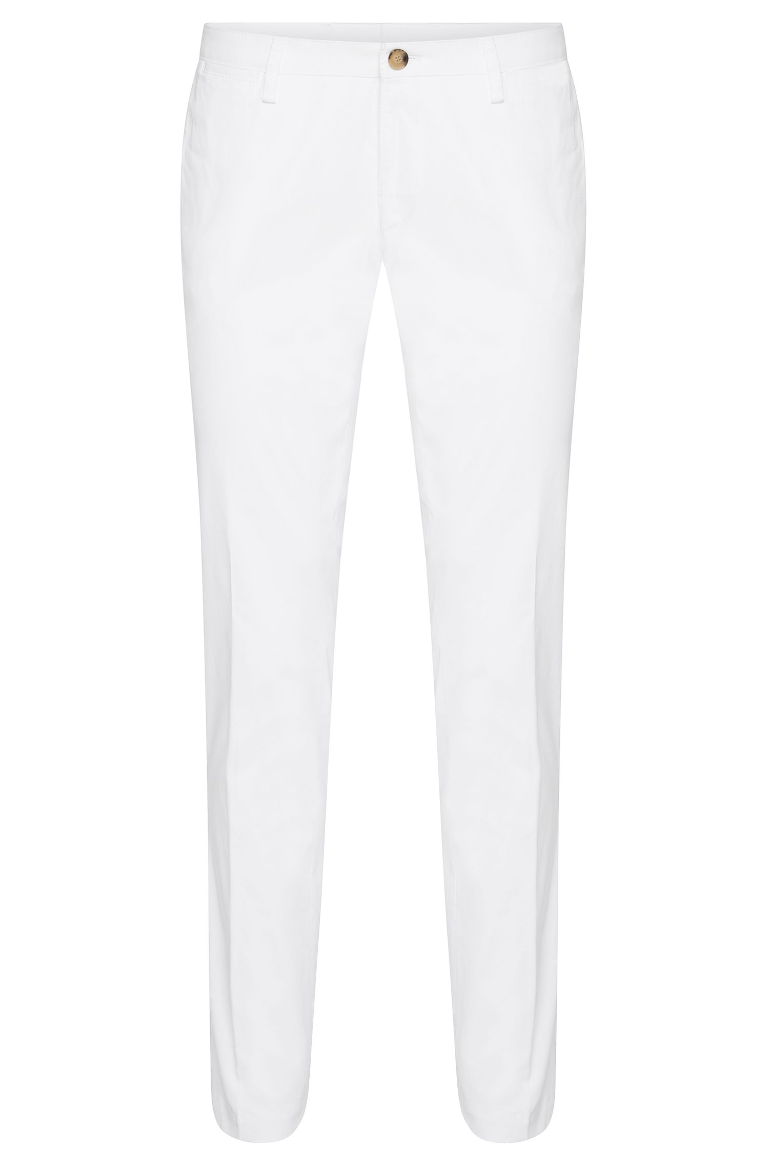 Pantalon uni Slim Fit en coton stretch : « Stanino12-W »