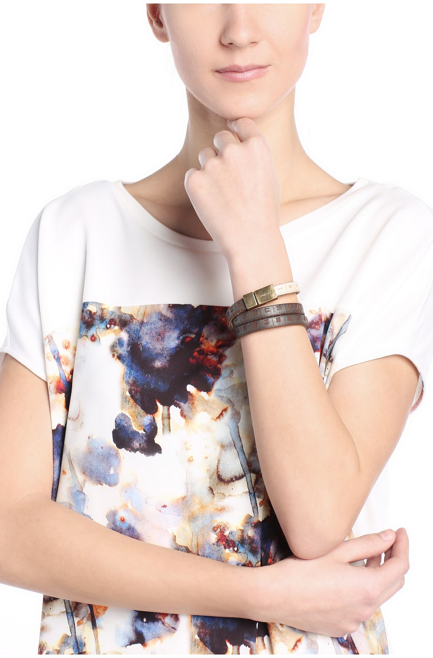 Ledernes Wickel-Armband mit Magnetschnalle: ´Mancy`