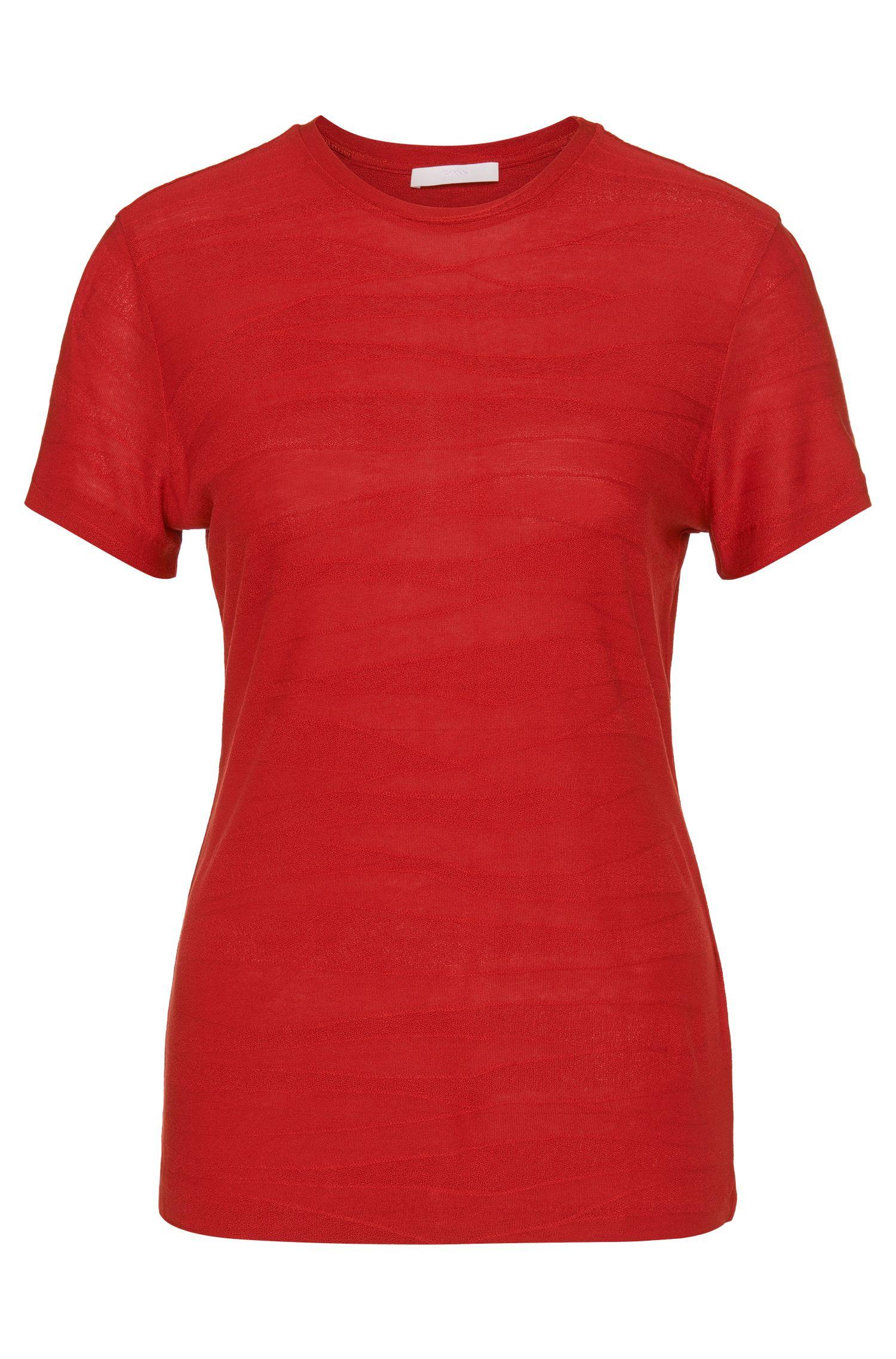 T-shirt en viscose orné de différentes structures: «Edonesa»