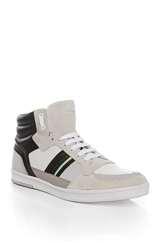 High-top sneakers in leather: 'Ray Pack Mid I', Natural