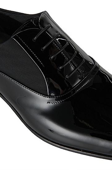 Veterschoenen van lakleer: 'Evedox', Zwart