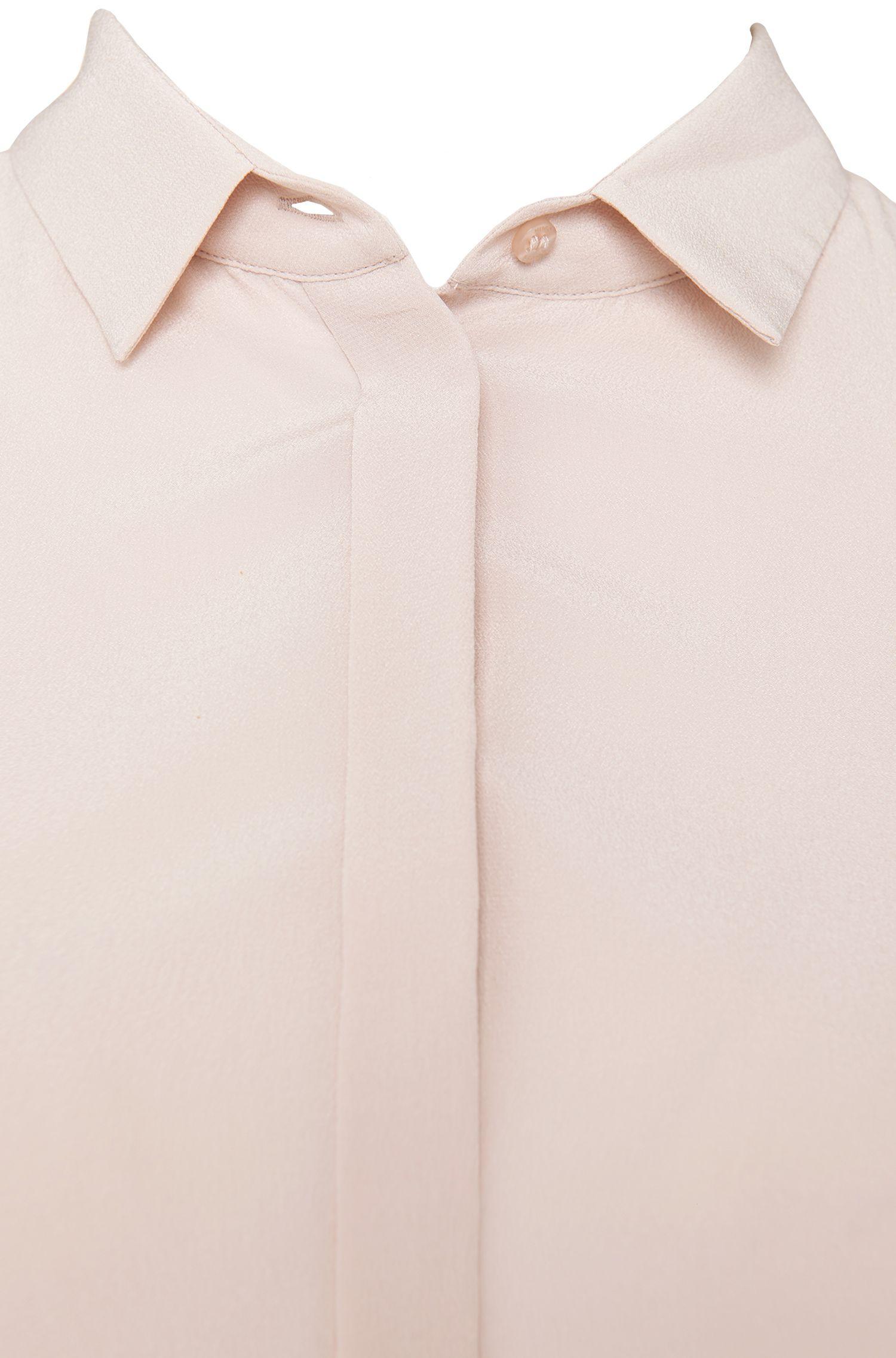 Standard-fit blouse van zijde: 'Rubija'