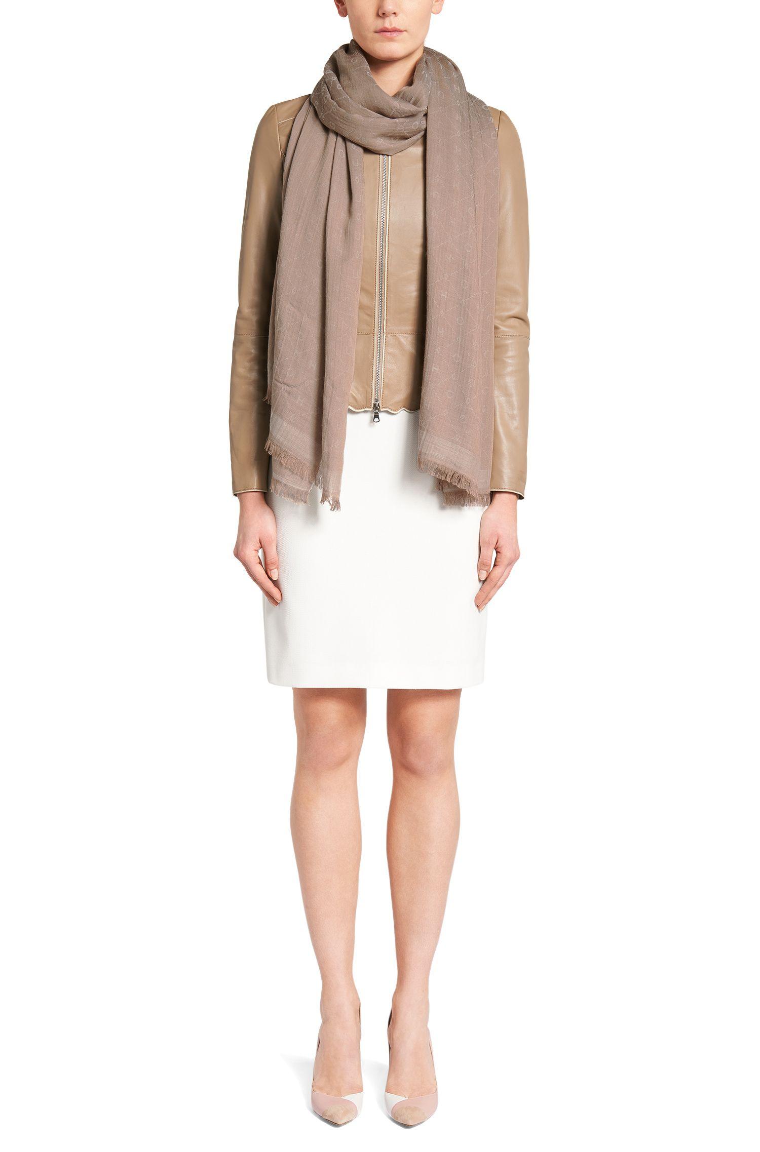 Écharpe en laine mélangée à teneur en modal: «Women-Z506»