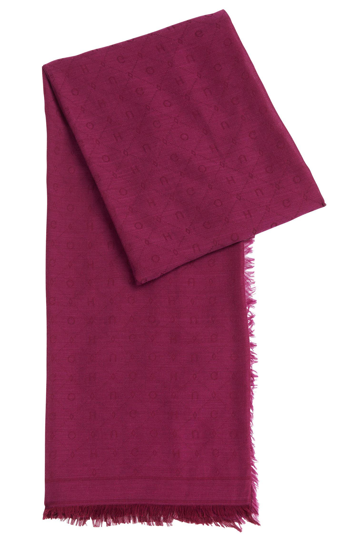 Sjaal van een wolmix met modal: 'Women-Z 506'