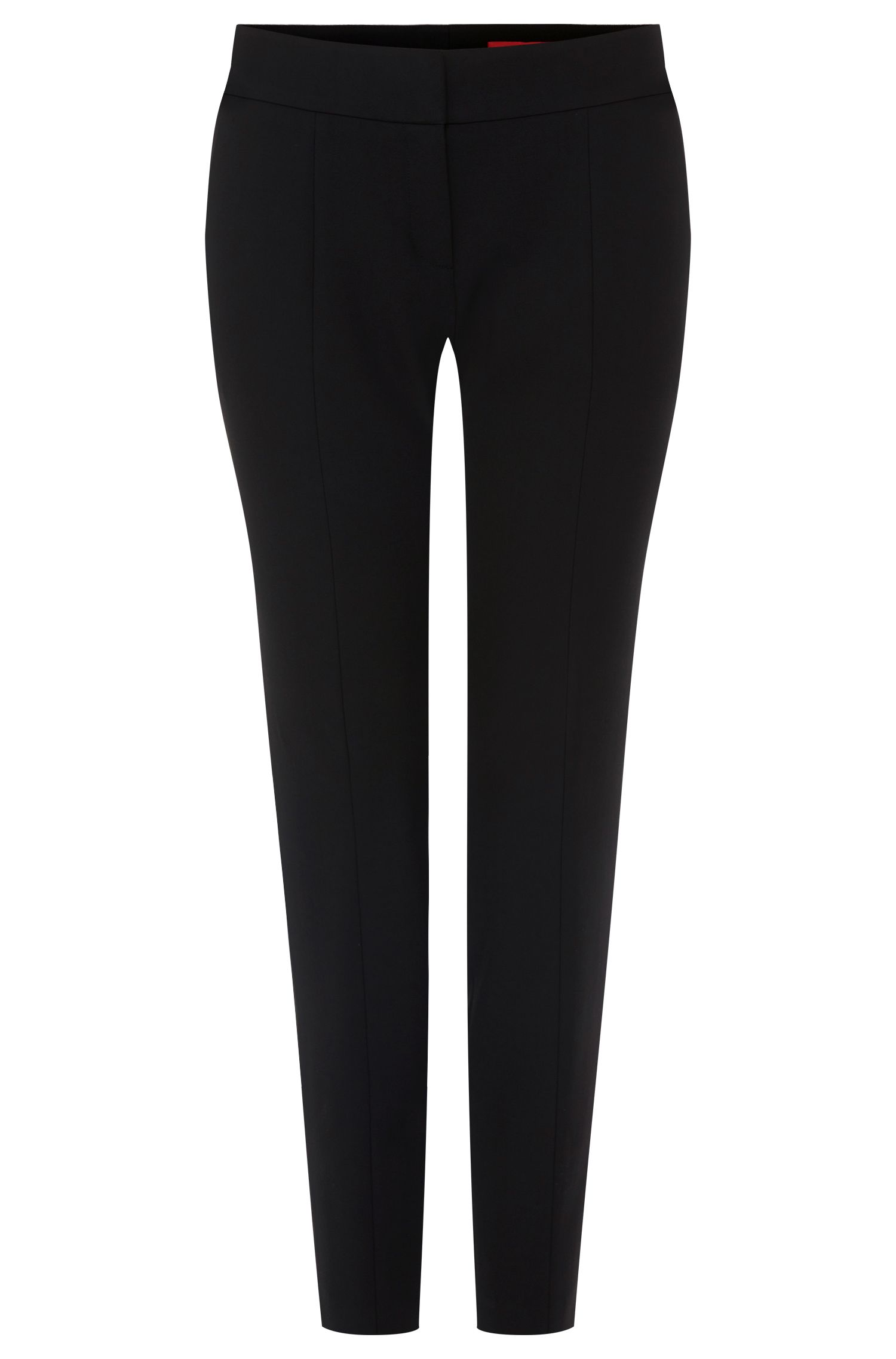 Slim-fit trousers in a stretchy material blend with viscose and cotton: 'Hevas'