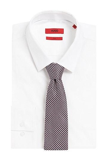 Karierte Krawatte aus Seide: 'Tie 7 cm', Hellrosa