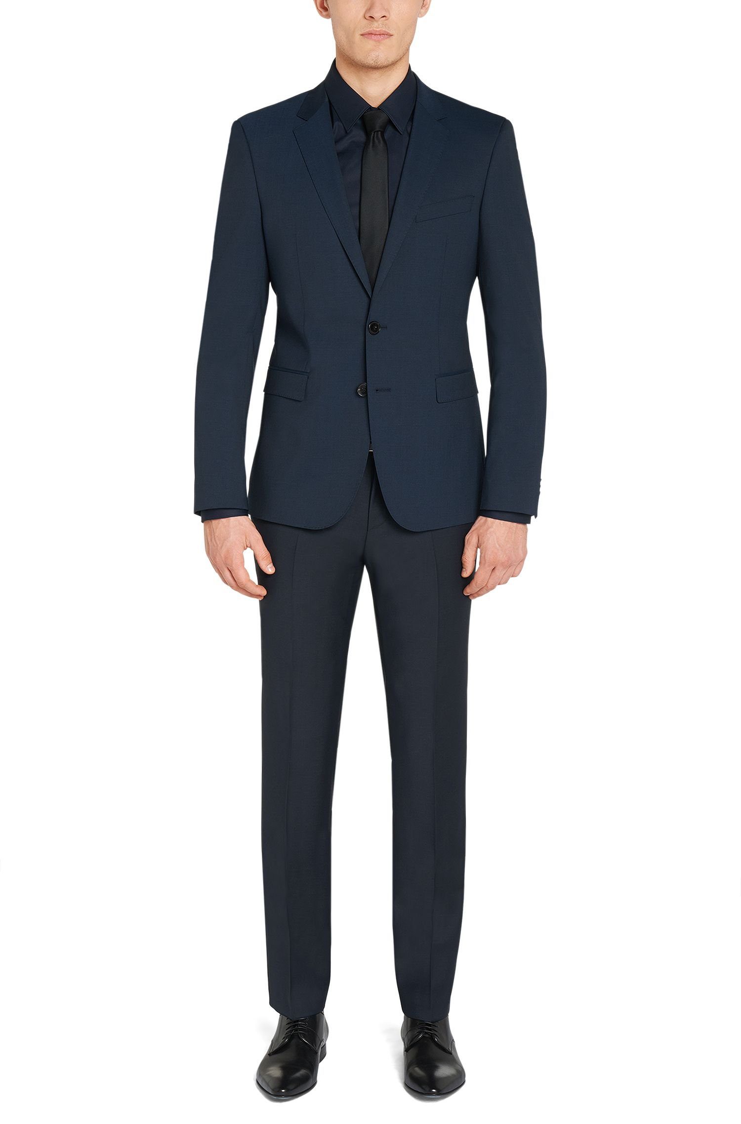 Extra Slim-Fit Anzug aus Schurwoll-Mix: 'C-RyanDNL'