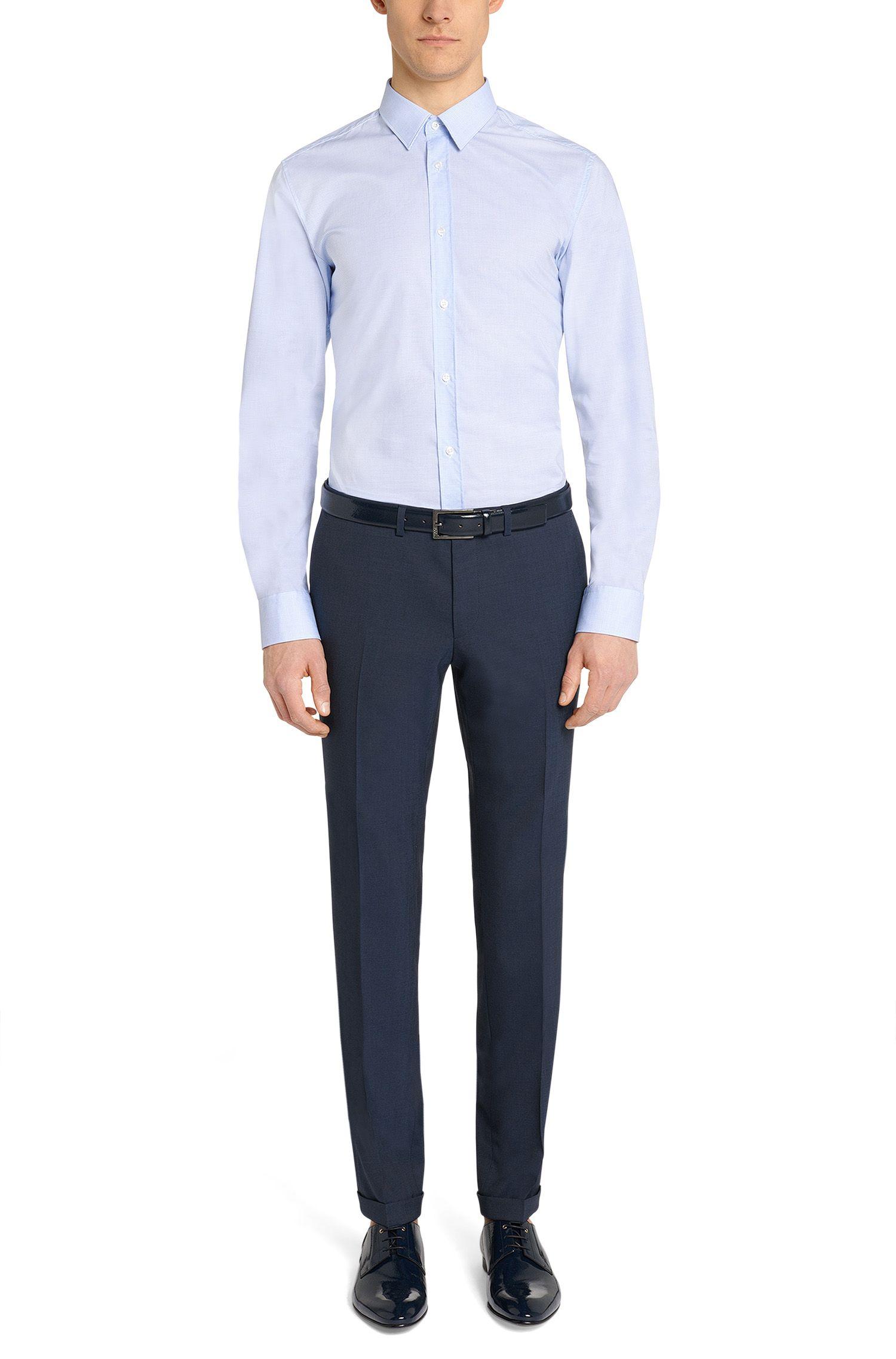 Pantalon extra Slim Fit en laine vierge mélangée: «C-WinDNL»