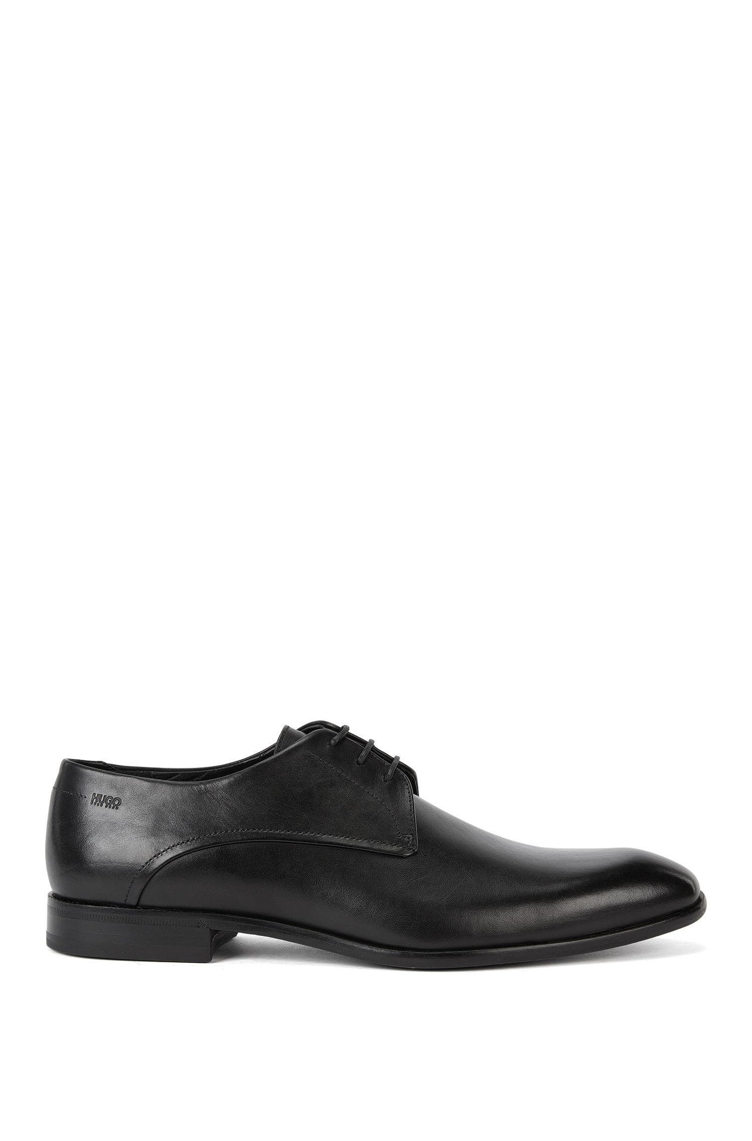 Leather Derby shoes with turned-and-stitched detail by HUGO Man