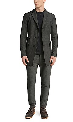 Regular-fit cotton-blend jacket: 'Barrets1-W', Dark Grey