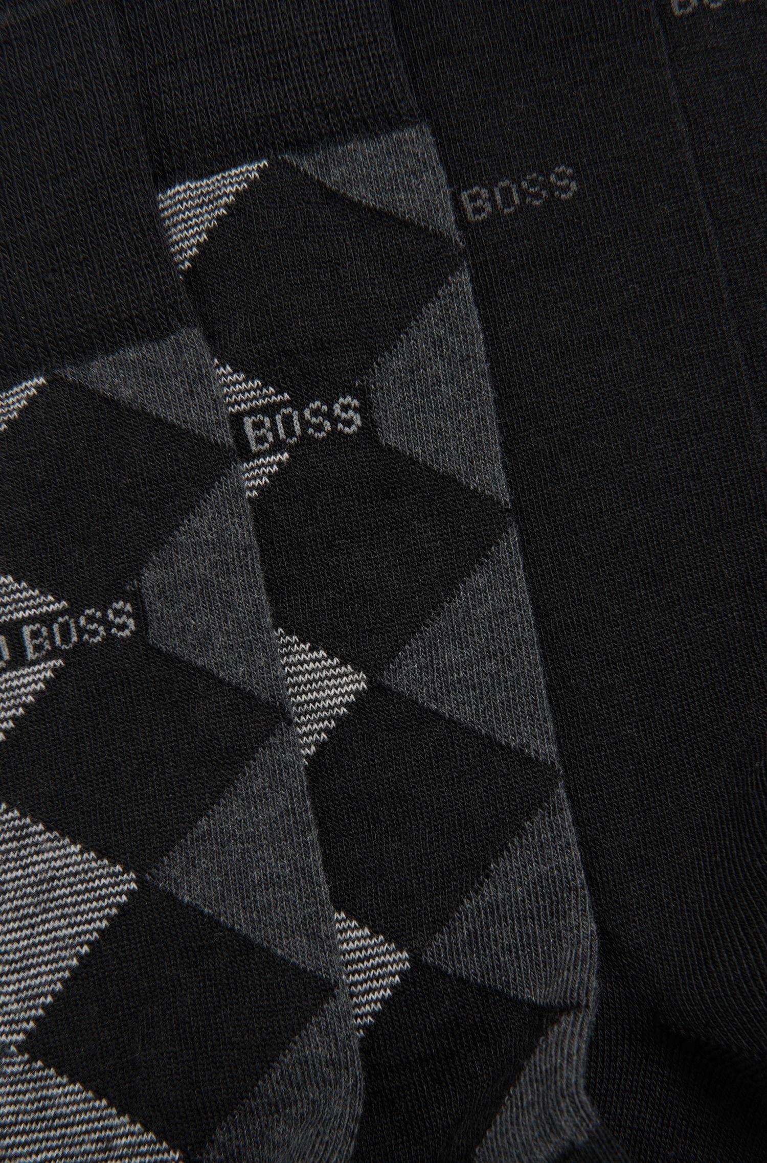 Karierte Socken aus Woll-Mix im Zweier-Pack: 'Twopack RS Design'