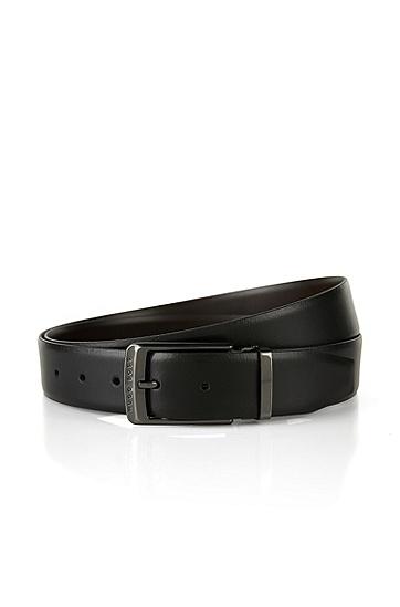 真皮双面腰带::'Ocar-CN',  002_黑色