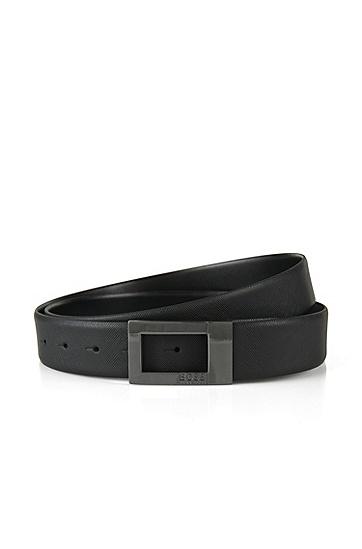特别版双面真皮腰带:'Ocarol-CN',  001_黑色