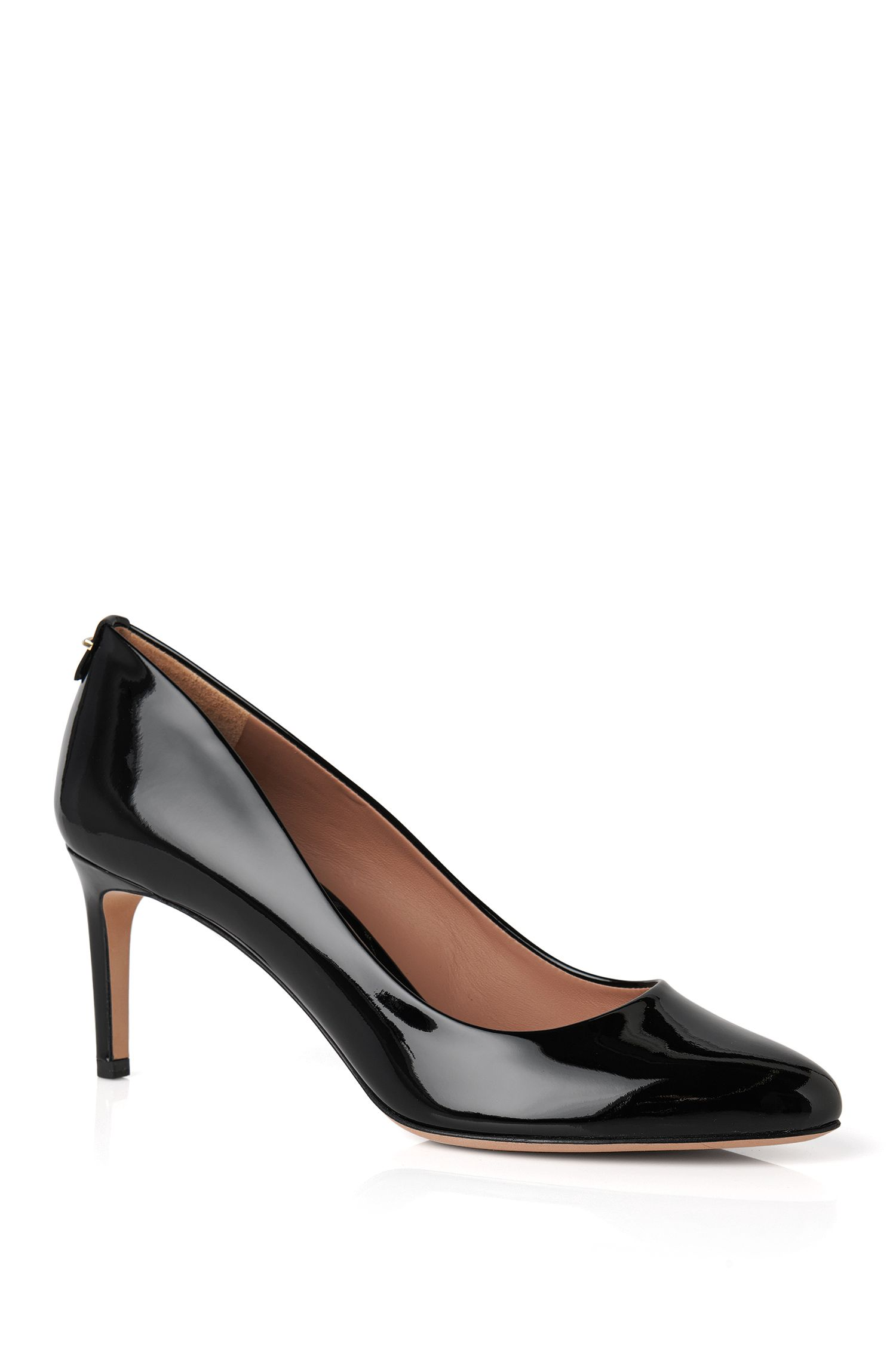 Patent-leather pumps with kitten heel: 'Staple R70-P'