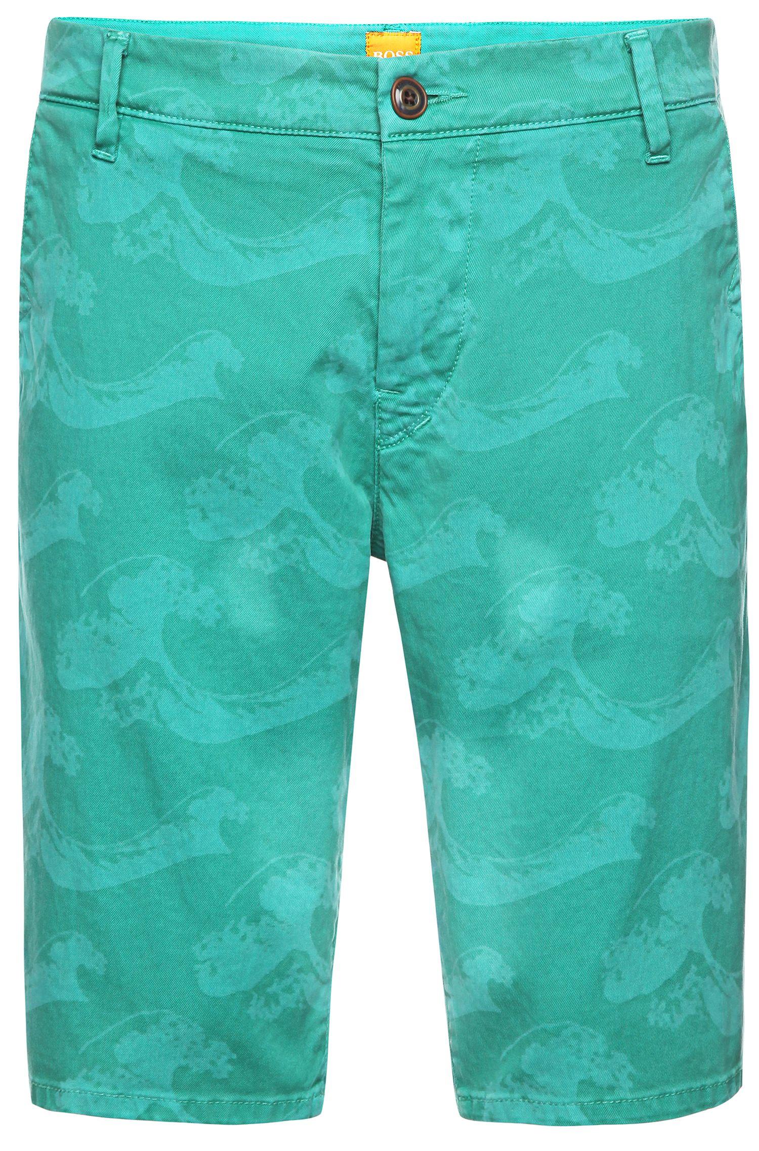 Bermuda Slim Fit en coton mélangé: «Sairy8-Shorts-D»