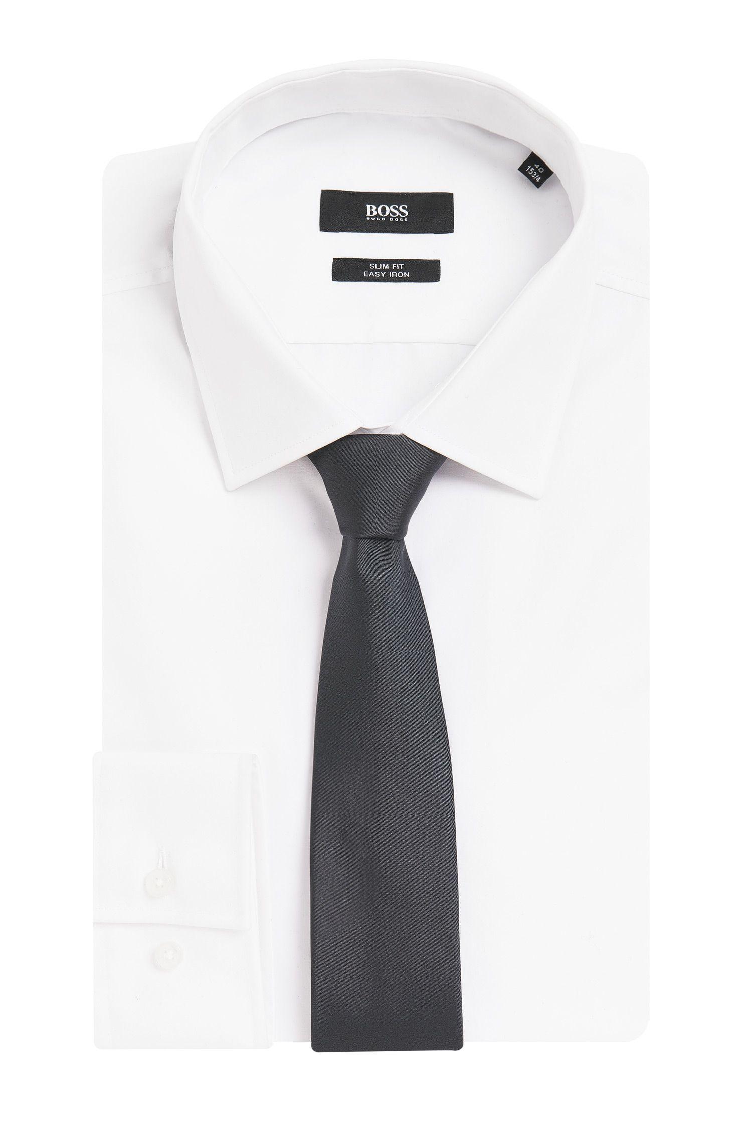 Cravate unie en pure soie: «Tie6cm»
