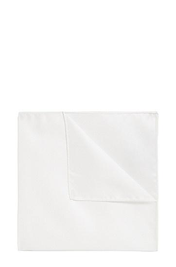 Einstecktuch aus Seide: 'Pocket sq. cm 33x33', Weiß