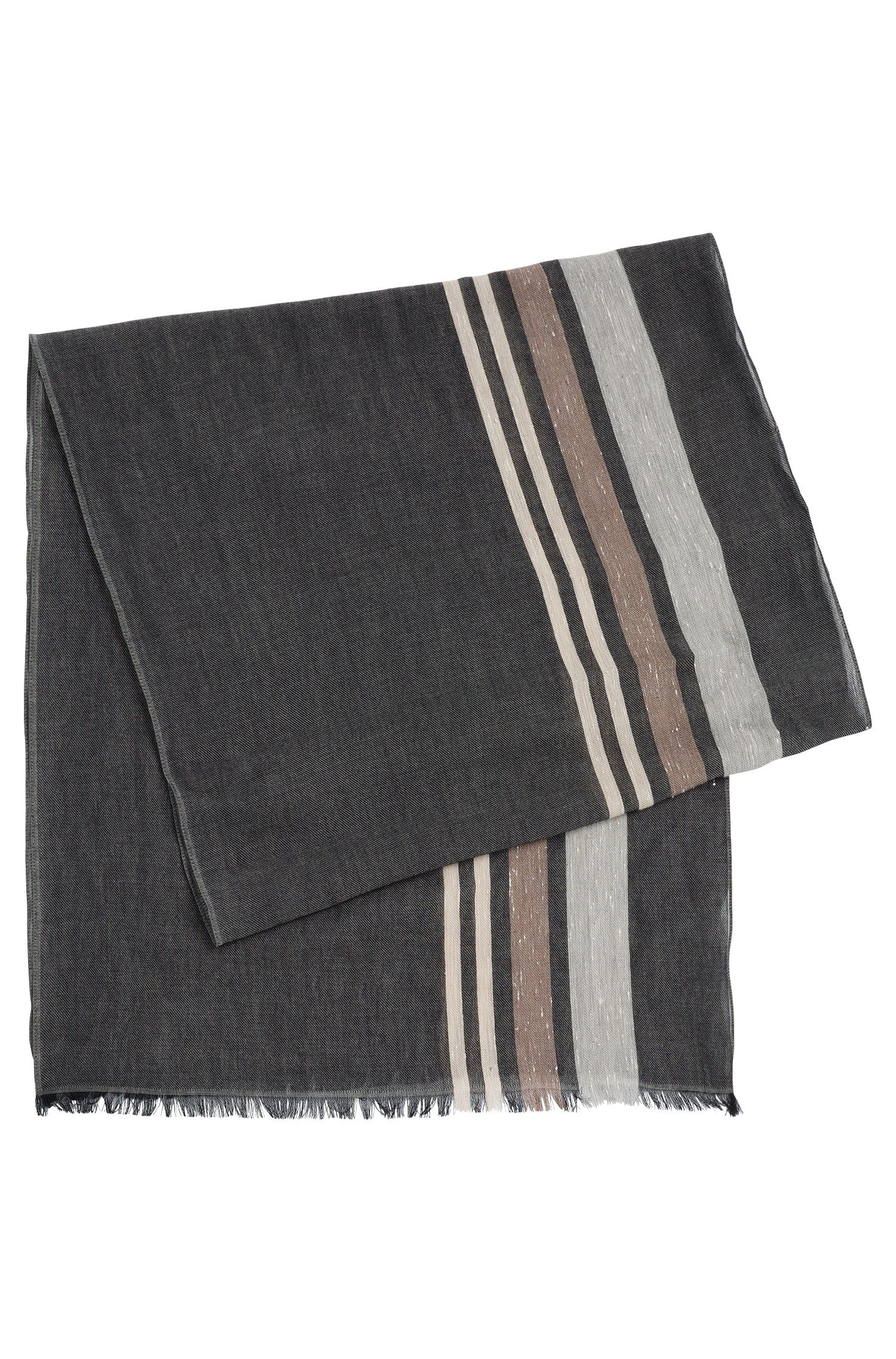 Gestreifter Schal aus Baumwolle: 'Catesio'