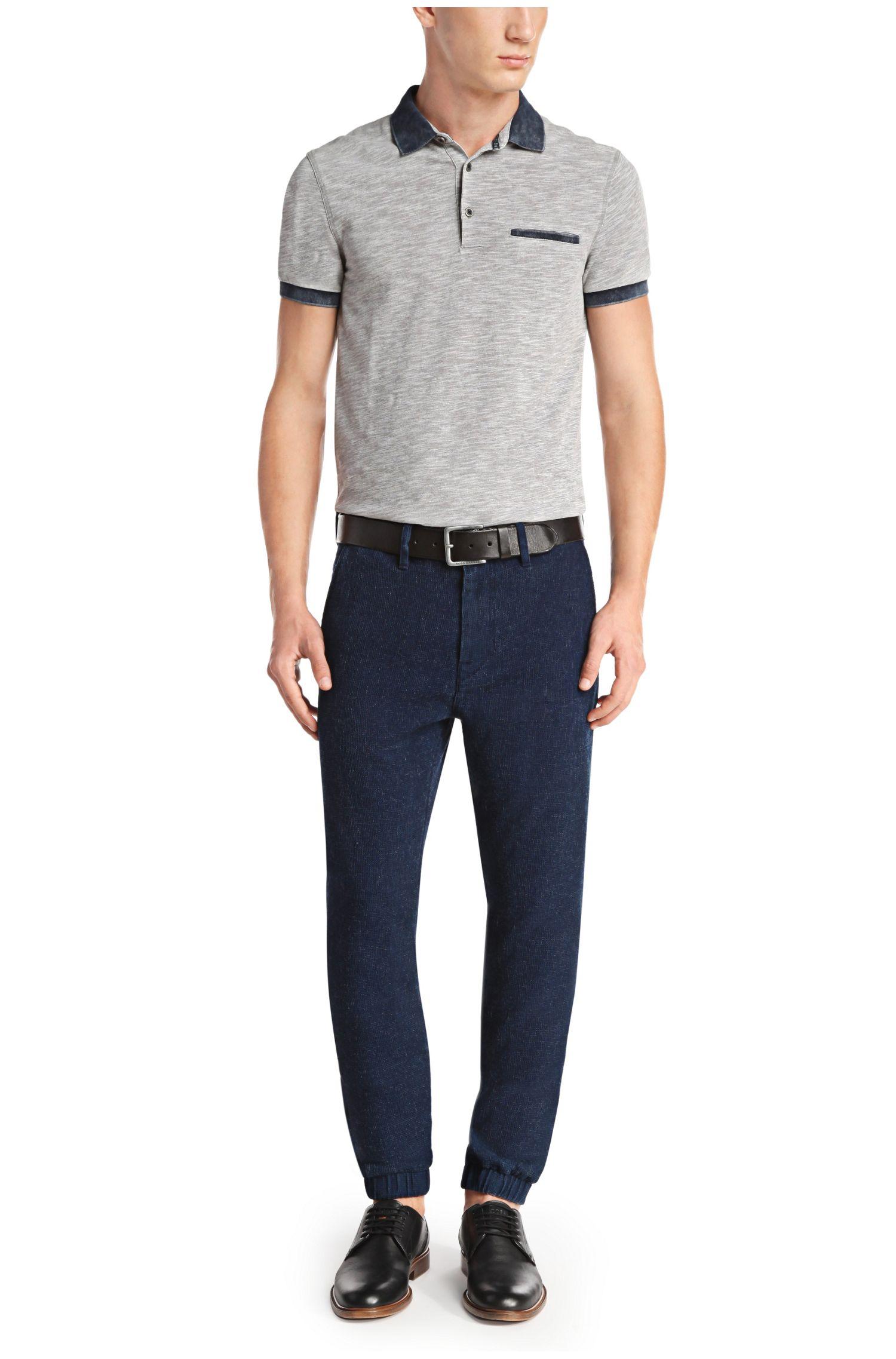 Pantalon décontracté Tapered Fit en coton: «Seth-W»