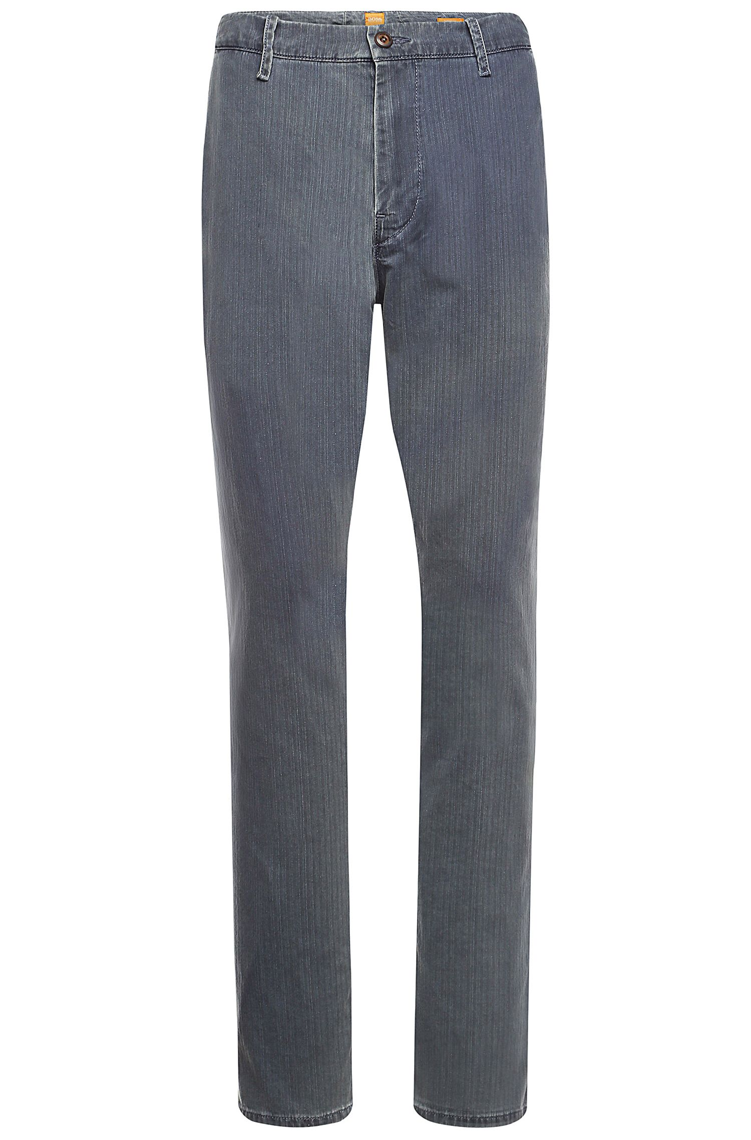 Tapered-Fit Chino aus Baumwolle  mit Struktur: ´Sandrew2-W`