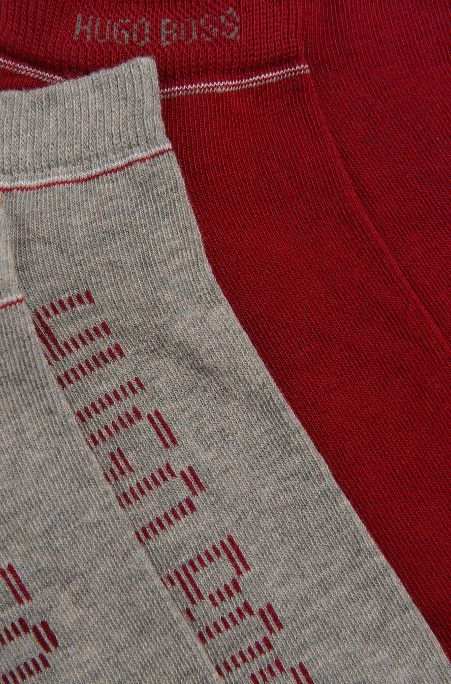 Sneaker-Socken aus Baumwoll-Mix im Zweier-Pack: 'Twopack AS Design'