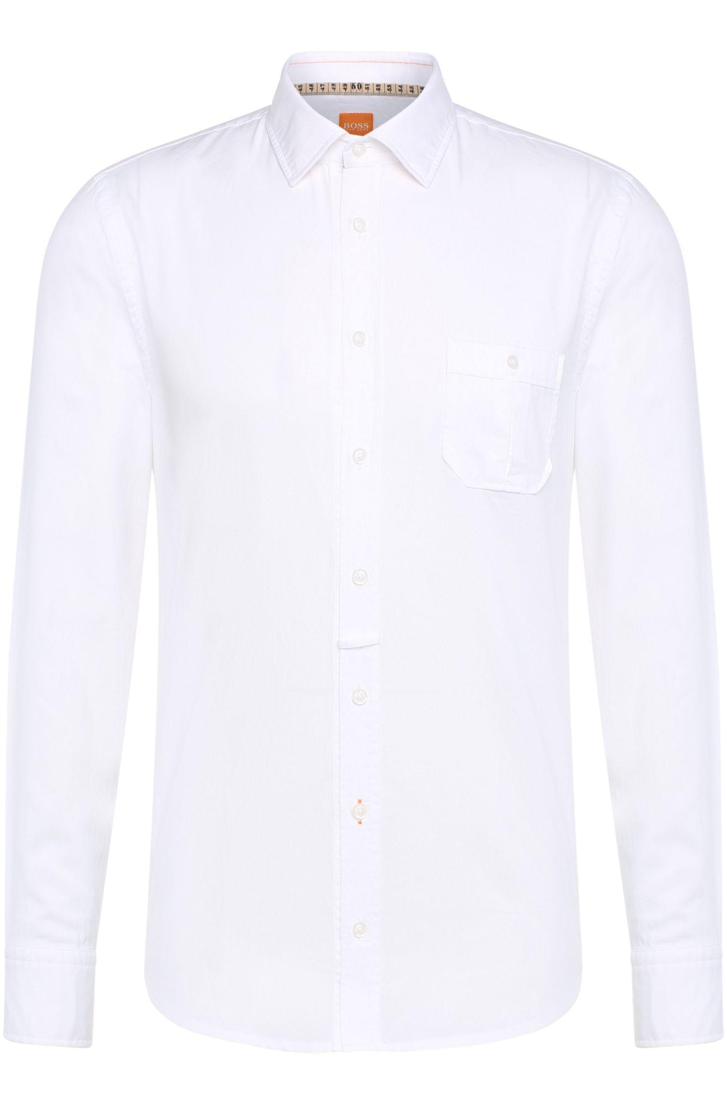 Slim-Fit Hemd mit feiner Textur: ´EslimE`