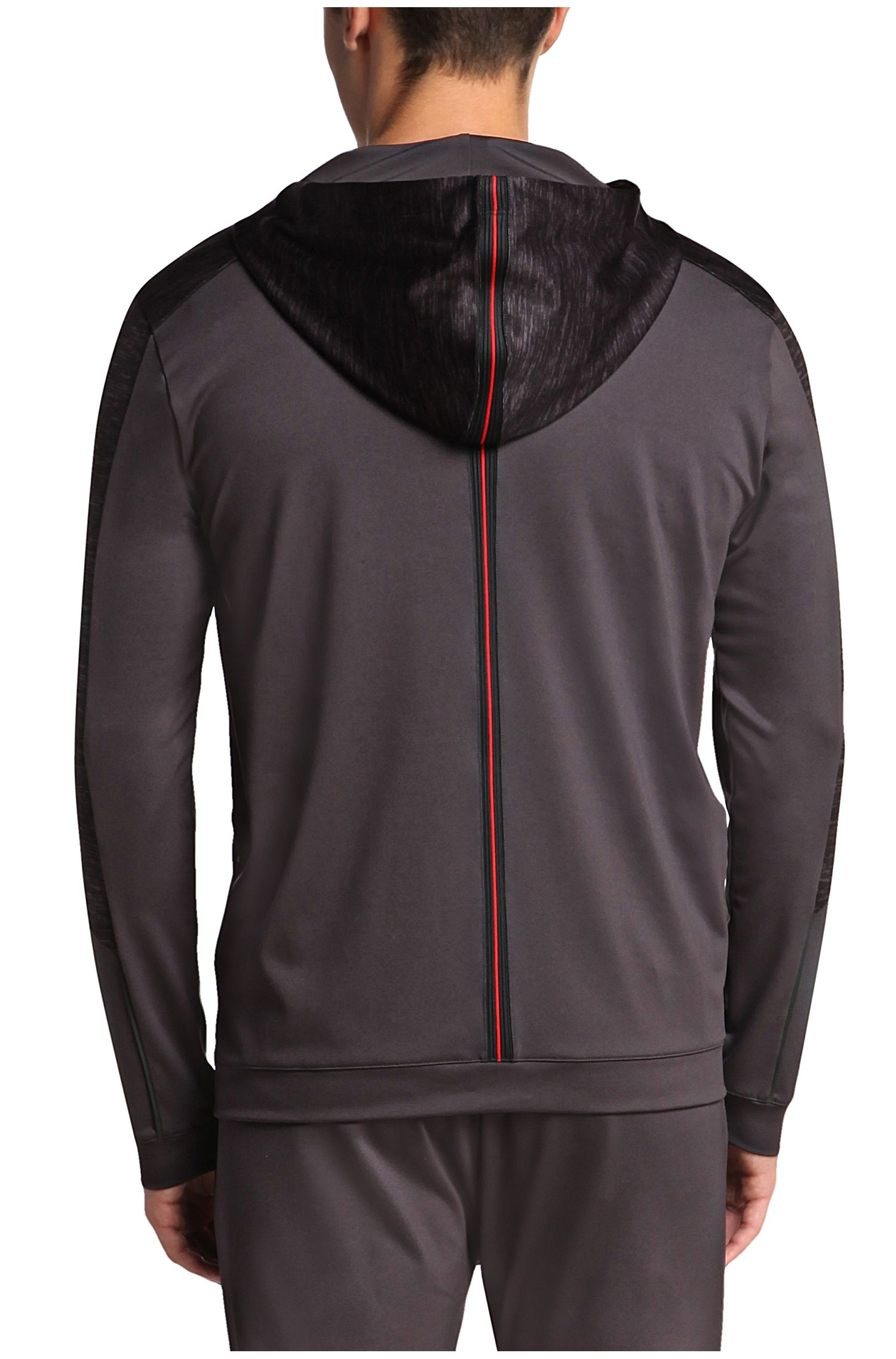 Regular-Fit Sweatshirt-Jacke mit Kapuze: ´Saggytech`