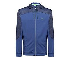 Regular-Fit Sweatshirt-Jacke mit Kapuze: ´Saggytech`, Hellblau