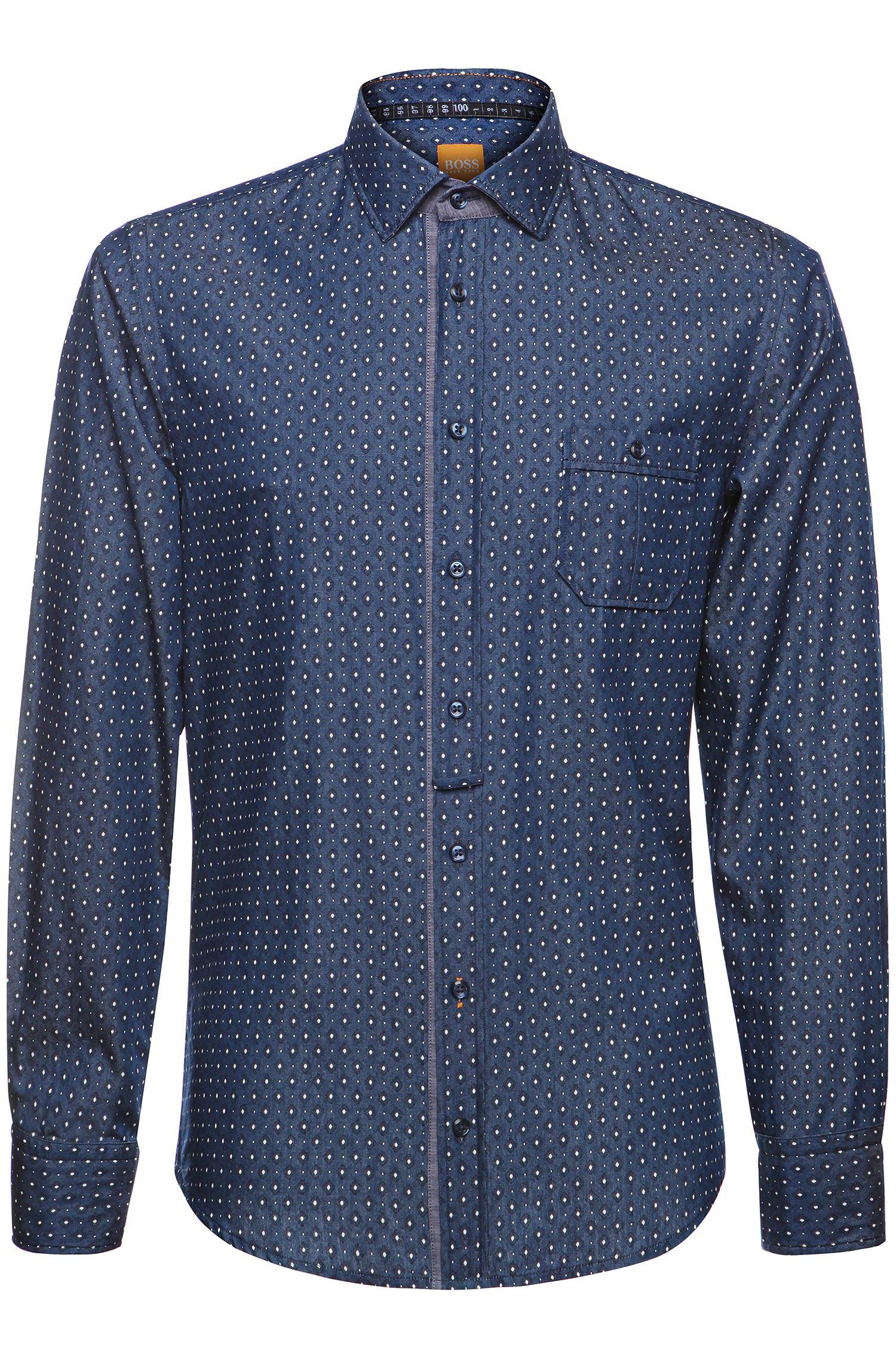 Slim-Fit Freizeit-Hemd mit Salmi-Muster: ´EslimE`