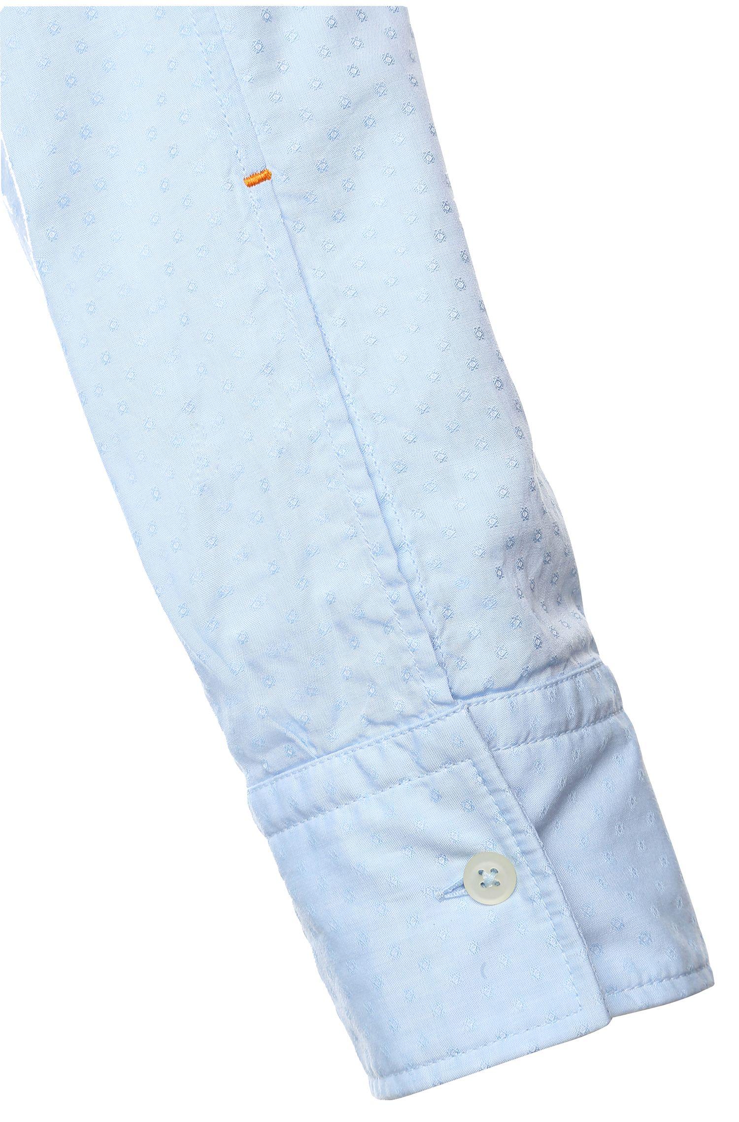 Slim-fit vrijetijdsoverhemd van katoen: 'EdipoE'