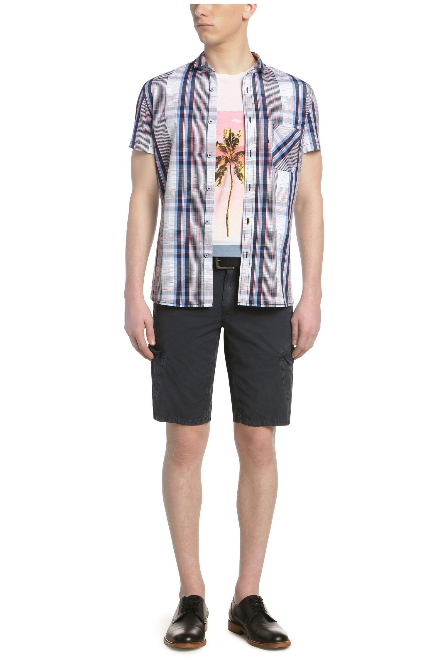 Regular-fit vrijetijdsoverhemd in een ruitdessin: 'EzippoE_1'