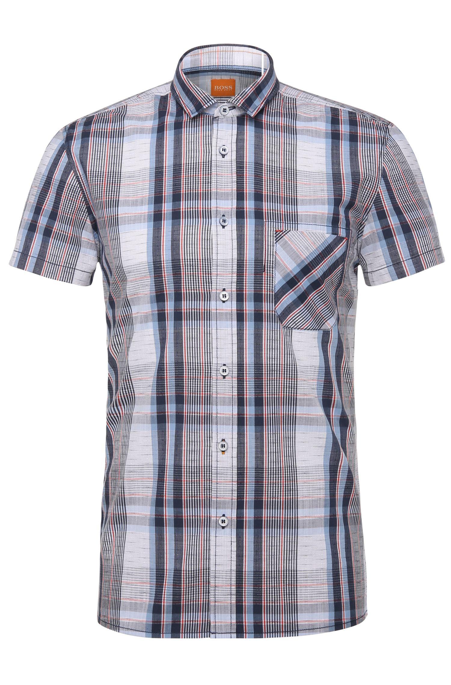Regular-Fit Freizeit-Hemd im Karo-Dessin: ´EzippoE_1`