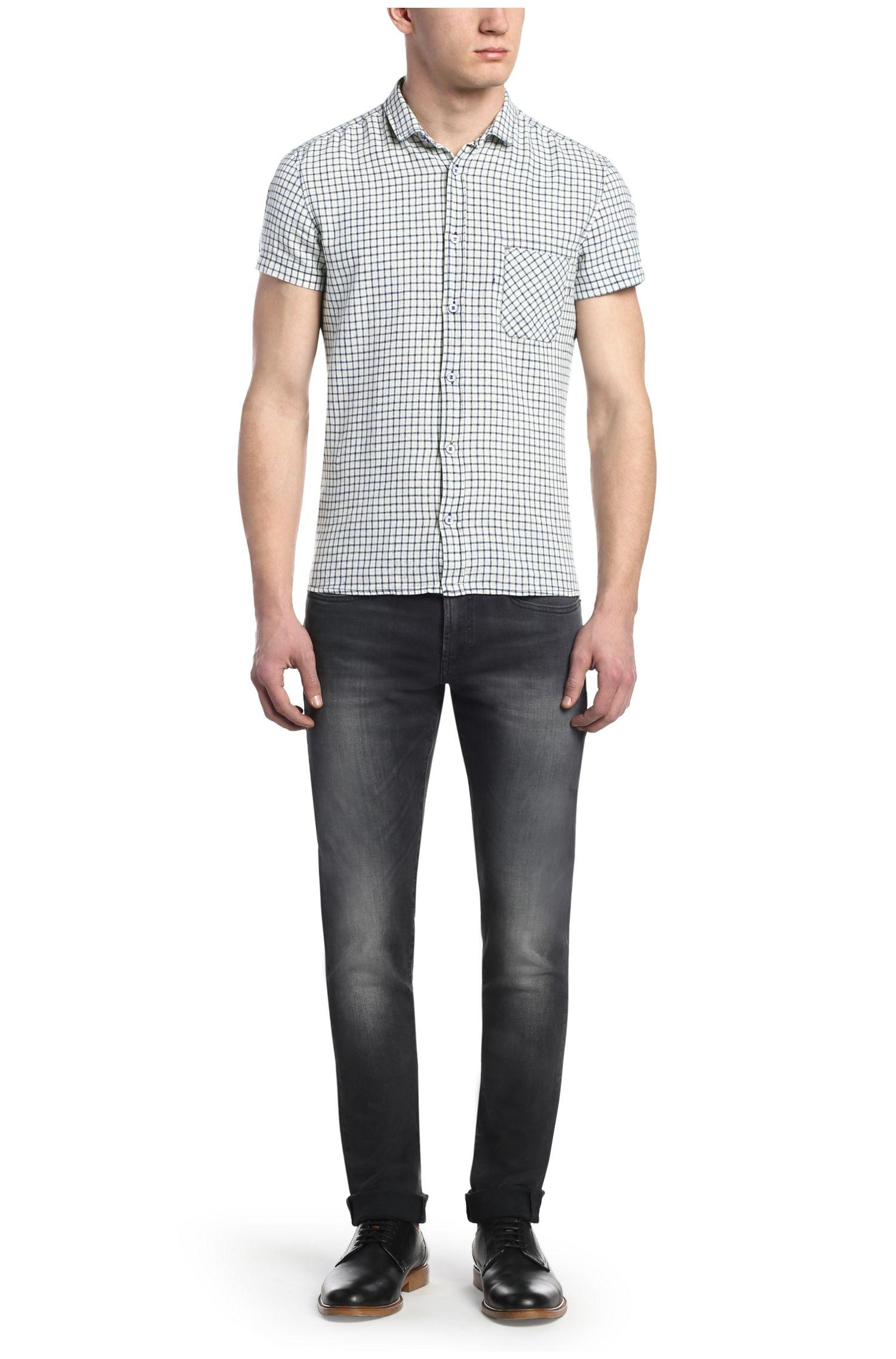 Regular-Fit Freizeit-Hemd aus Leinen-Mix: ´EzippoE_1`
