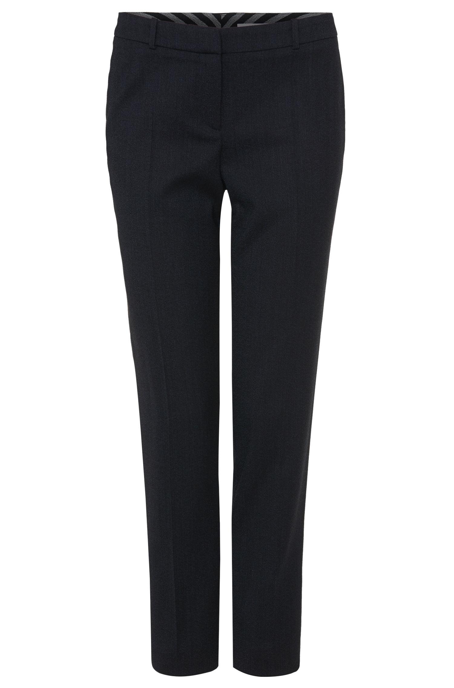 Comfort-fit broek van scheerwol met stretch: 'Tiluna5'