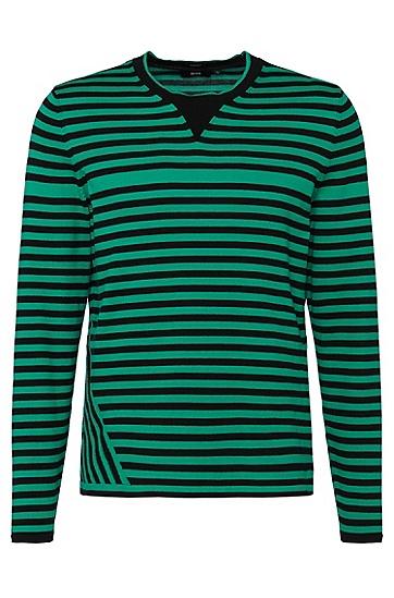 Regular-Fit Pullover aus Baumwolle: 'Garner', Gemustert