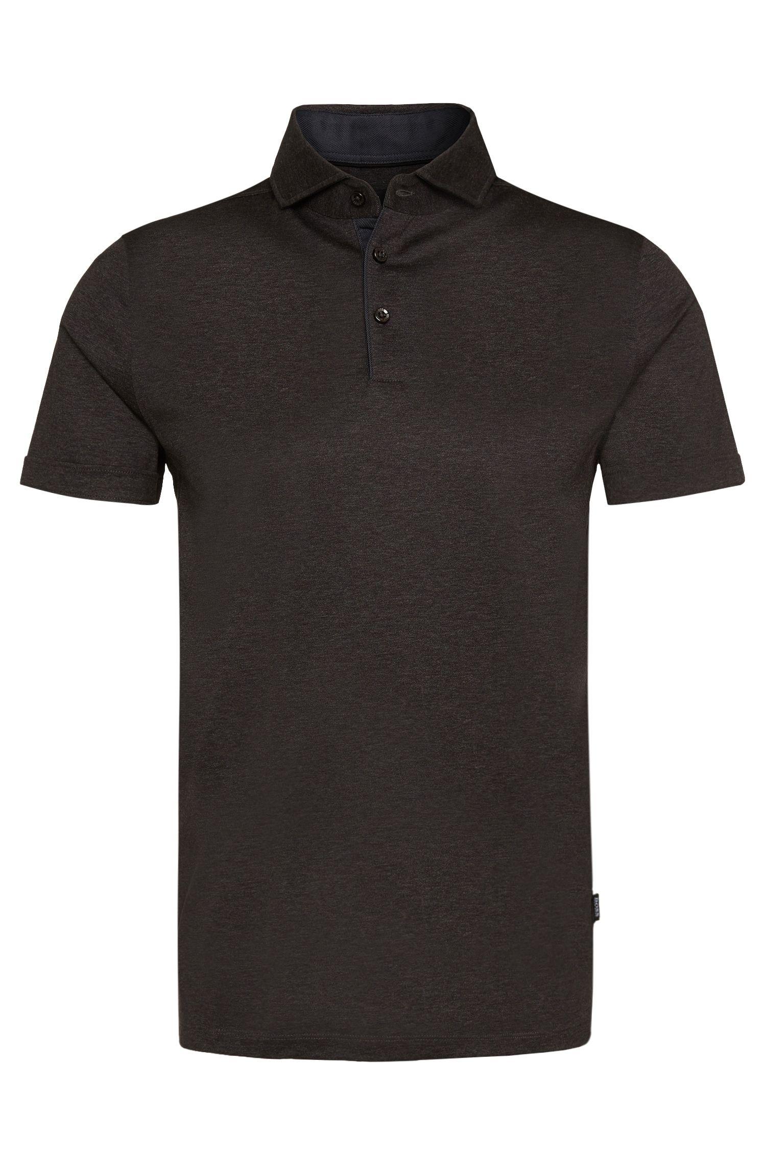 Slim-Fit Poloshirt aus Baumwolle: 'Platt 01'