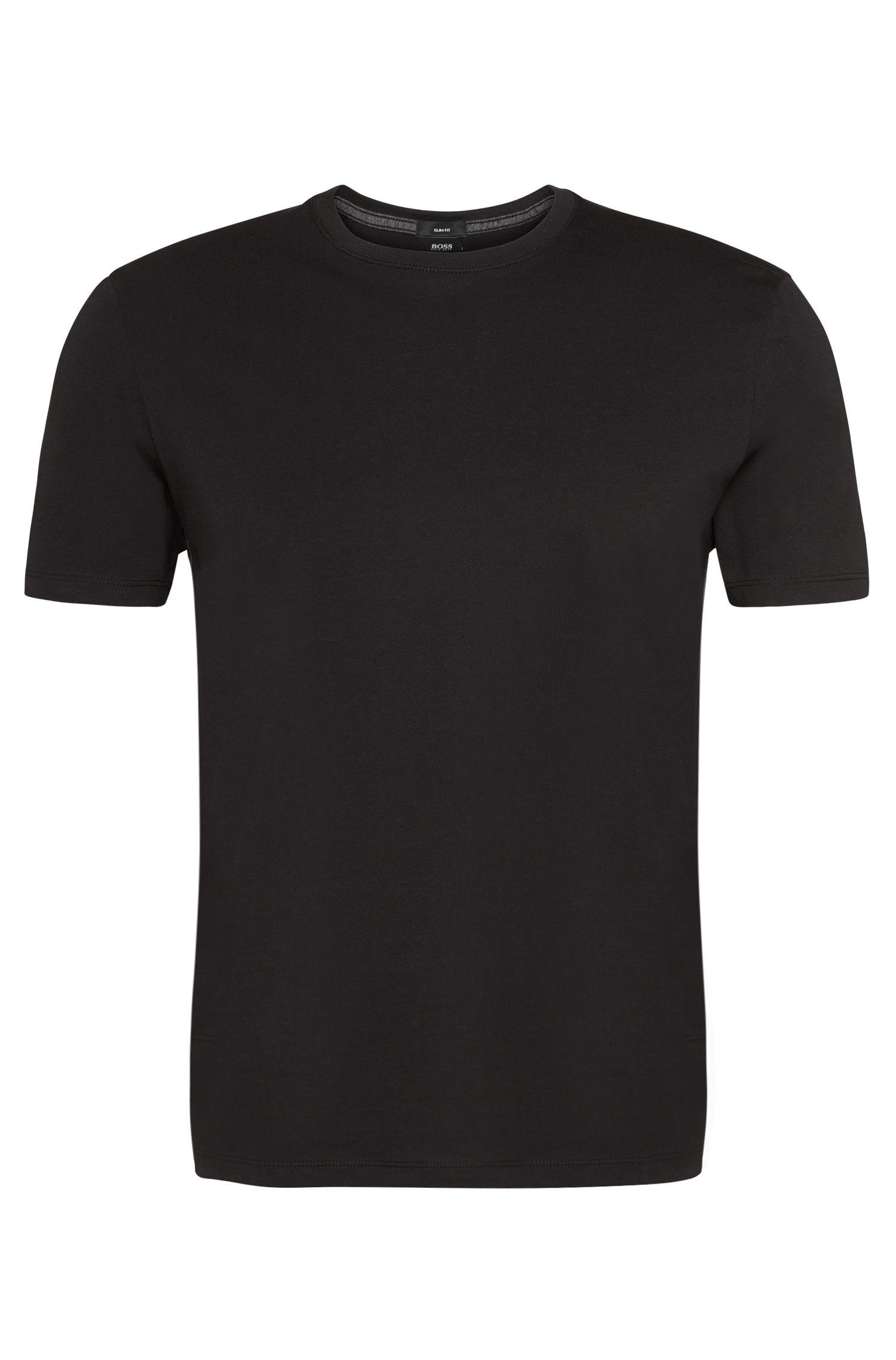 T-shirt Slim Fit en coton: «Tessler09»