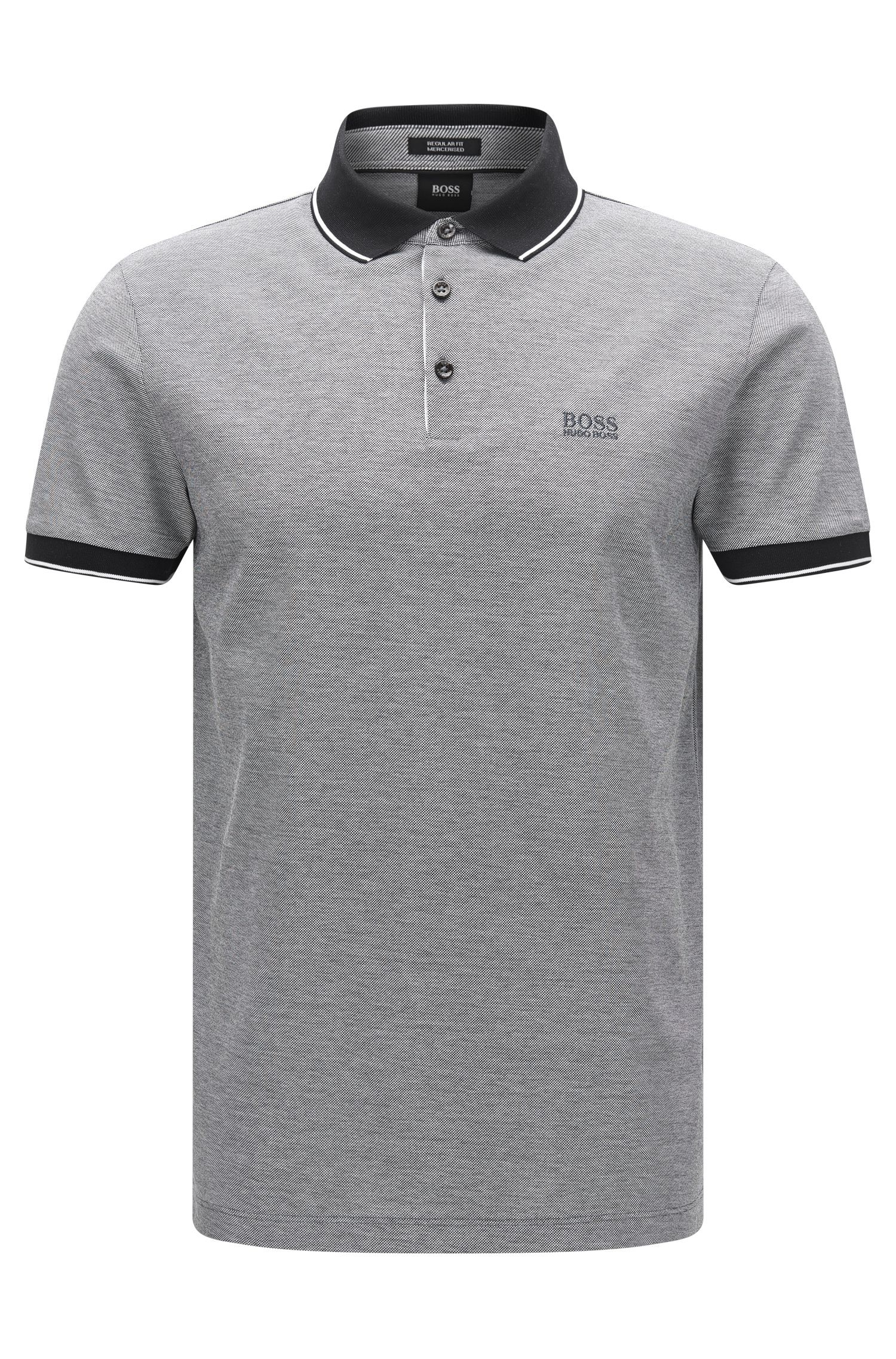 Polo Regular Fit en coton raffiné : « Prout 01 »