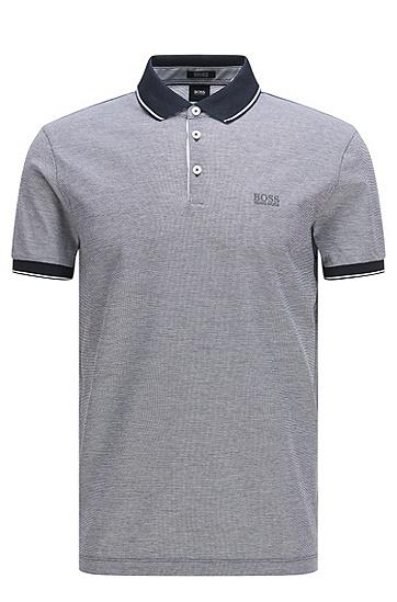 常规版精美纯棉polo衫:'Prout 01',  403_暗蓝色