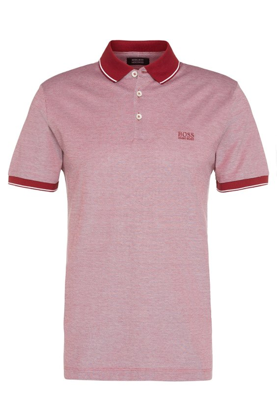 Regular-fit poloshirt van verfraaide katoen: 'Prout 01', 617_Red